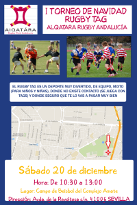 cartel RUGBY TAG