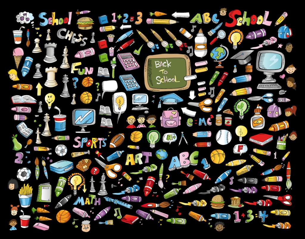 education-objets-ecole-dessins-eleves-outils